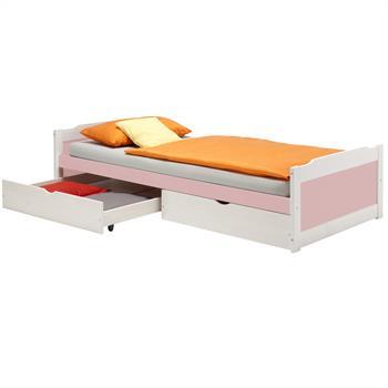 Kojenbett FRITZ in weiß/rosa, 90 x 200 cm