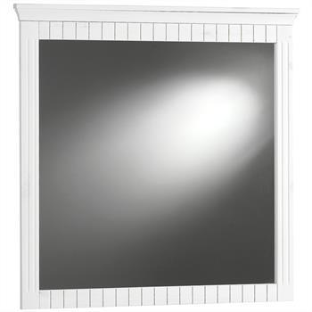 Wandspiegel ALBORG in weiß mit Holzrahmen
