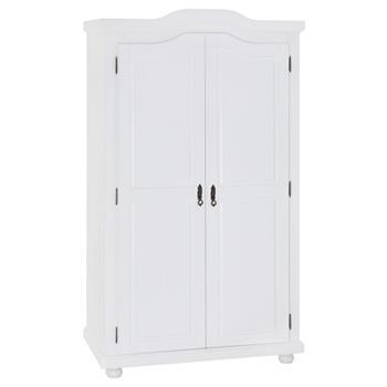 Garderobenschrank Dielenschrank MÜNCHEN mit 2 Türen, Kiefer weiß