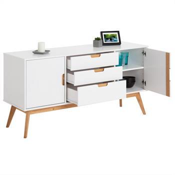 Sideboard TIVOLI 2 Türen 3 Schubladen skandinavisches Design, weiß