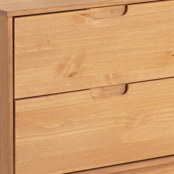 Anrichte TIVOLI 2 Türen 2 Schubladen skandinavisches Design, gebeizt/weiß