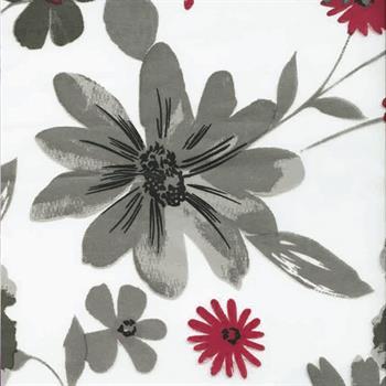 Bettwäsche FLOWER 135x200 grau/rot