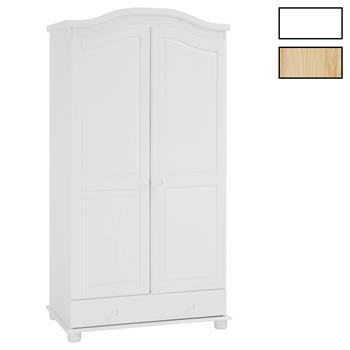 Garderobenschrank Dielenschrank BERGEN mit 2 Türen in 4 Farben