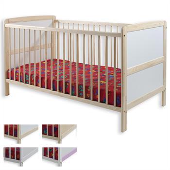 Babybett CLARA in 2 Farben, Kiefer massiv