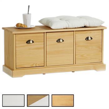 Sitzbank NANCY mit 3 Schubladen in 3 Farben