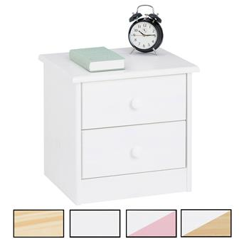 Nachtkommode RONDO 2 Schubladen 4 Farben