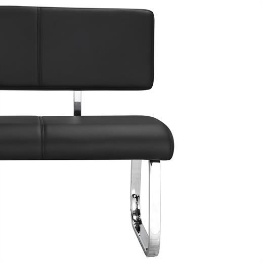 esszimmerbank essbank polsterbank sitzbank mit r ckenlehne k chenbank in schwarz ebay. Black Bedroom Furniture Sets. Home Design Ideas