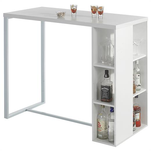 bartisch bartresen stehtisch k chentheke bistrotresen mdf in weiss ebay. Black Bedroom Furniture Sets. Home Design Ideas
