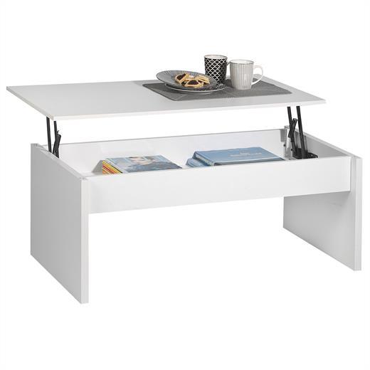 Couchtisch Beistelltisch Wohnzimmertisch Tisch Weiss Mit Ablage