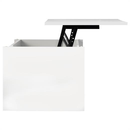 Couchtisch Beistelltisch Wohnzimmertisch Tisch Weiss Mit Ablage 100 X 43 50 Cm