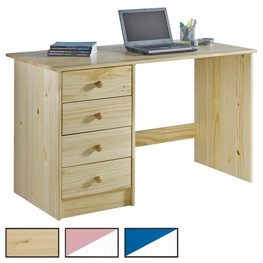 schreibtisch kinderschreibtisch sch lerschreibtisch kiefer massiv in 2 farben ebay. Black Bedroom Furniture Sets. Home Design Ideas