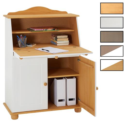 sekret r schreibtisch landhausstil kommode mit klappe. Black Bedroom Furniture Sets. Home Design Ideas