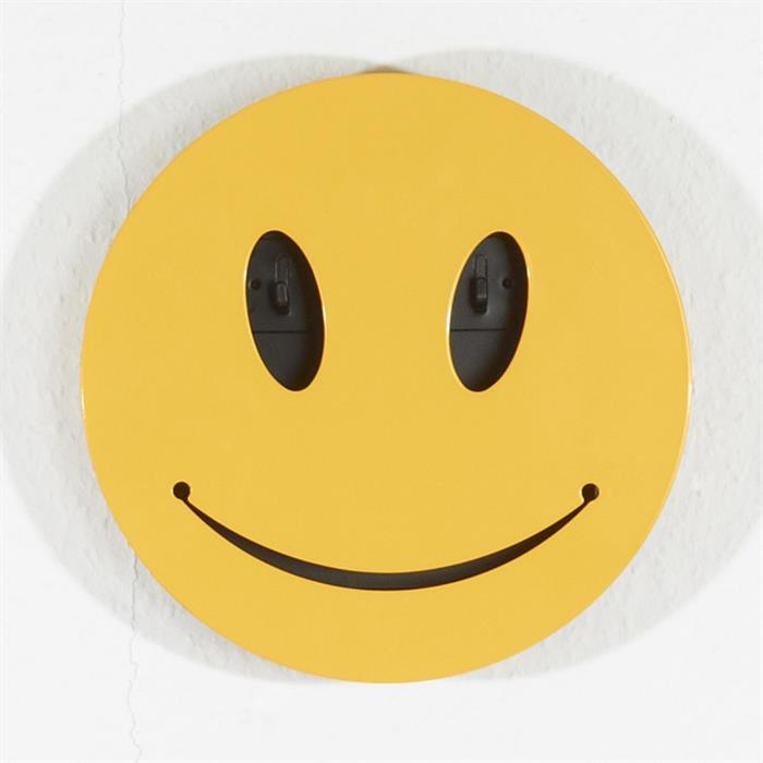 Schlüsselbox Smiley in gelb mit 5 Haken