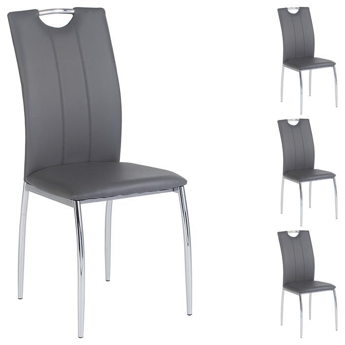 Esszimmerstuhl APOLLO, Set mit 4 Stühlen grau
