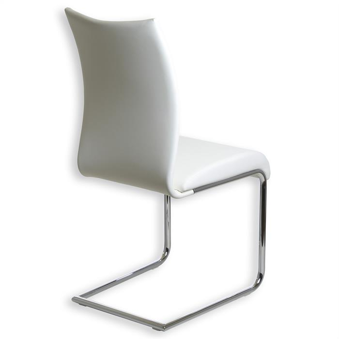 Schwingstuhl ALADINO, 4er Set, chrom/weiß