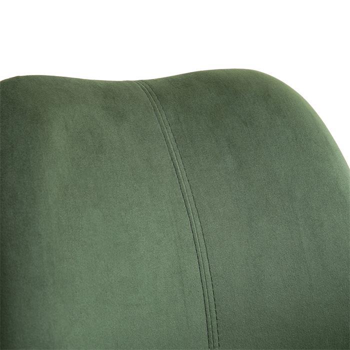 Esszimmerstuhl EVEREST 2er Set Samtstoffbezug in grün