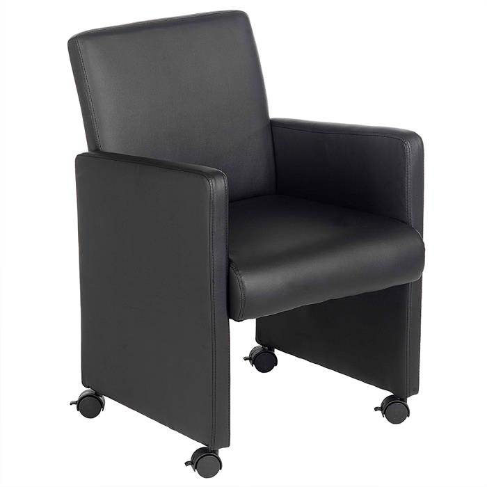 Sessel ANTONIA auf Rollen in schwarz