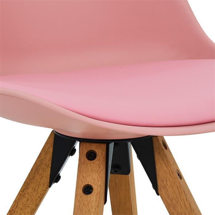 Esszimmerstuhl TYSON Retro Design 4er Set in pink