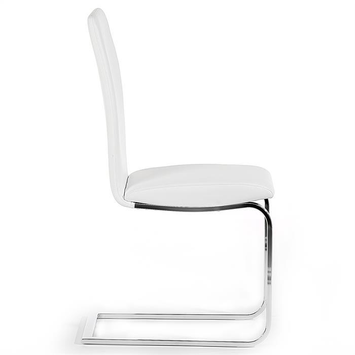 4er Set Schwingstuhl ANGELO, in weiß
