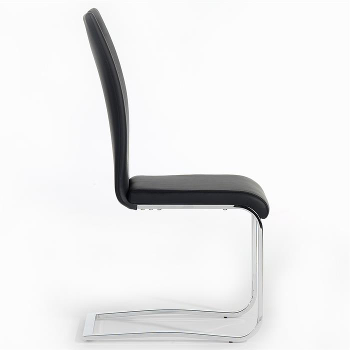 Schwingstuhl SABA, Set mit 4 Stühlen schwarz