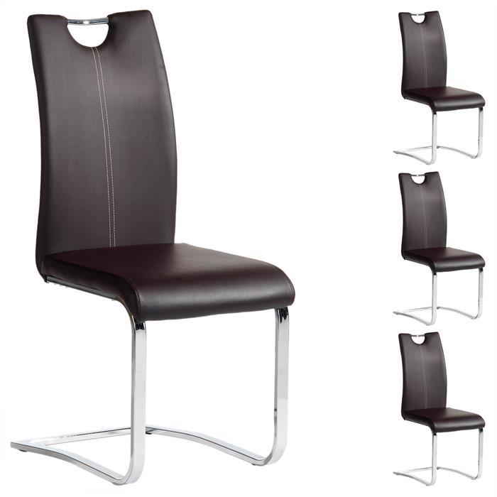 Schwingstuhl SABA, Set mit 4 Stühlen braun