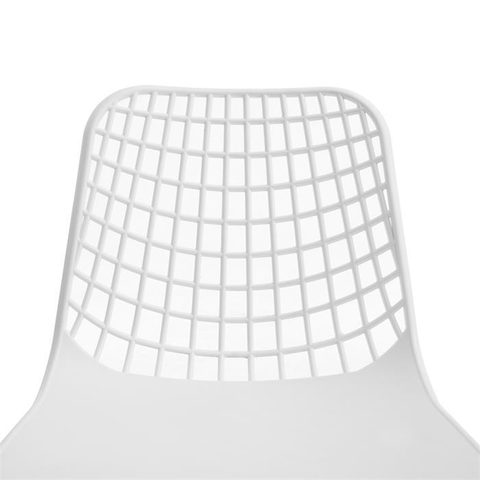 Esszimmerstuhl DENO im 4er Set im Retro Design in weiß