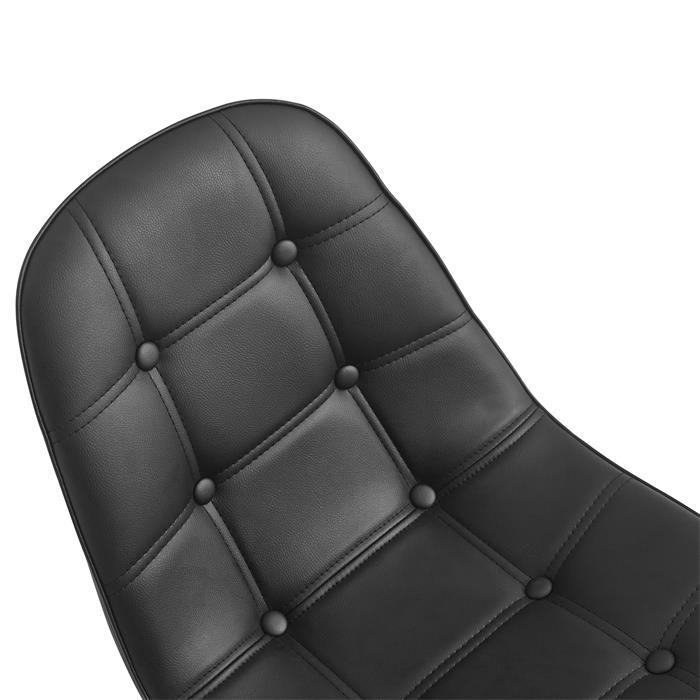 Esszimmerstuhl CESAR im 2er Pack Lederimitat in schwarz