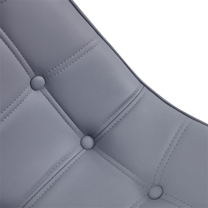 Esszimmerstuhl ALVARO im 4er Set mit Kunstlederbezug in grau