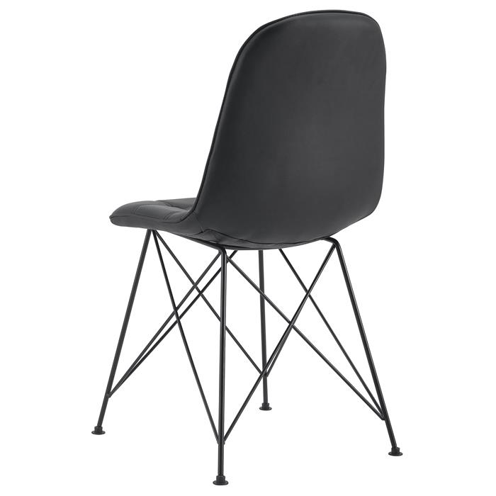 Esszimmerstuhl IMRAN im 4er Set mit Kunstlederbezug in schwarz