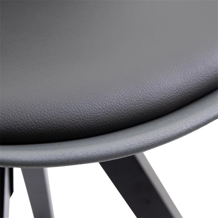 Esszimmerstuhl RETO aus Kunststoff im 4er Set in grau