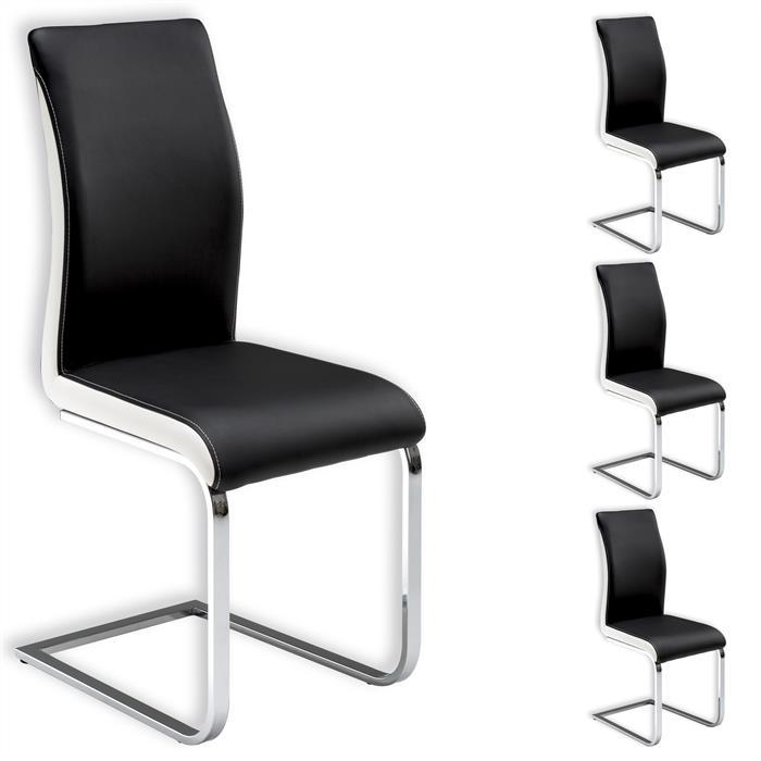 Stuhl INDIRA 4er Pack in schwarz