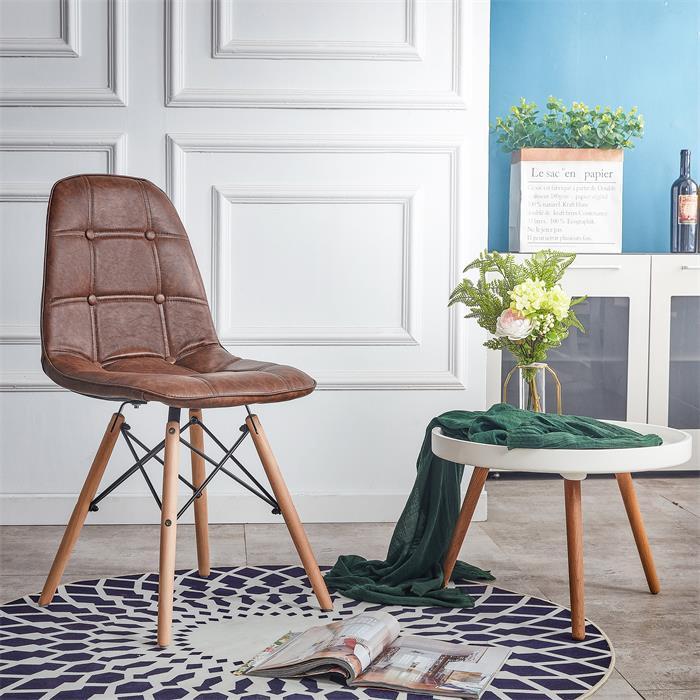 Esszimmerstuhl CESAR Vintage Stil braun in 4er Set