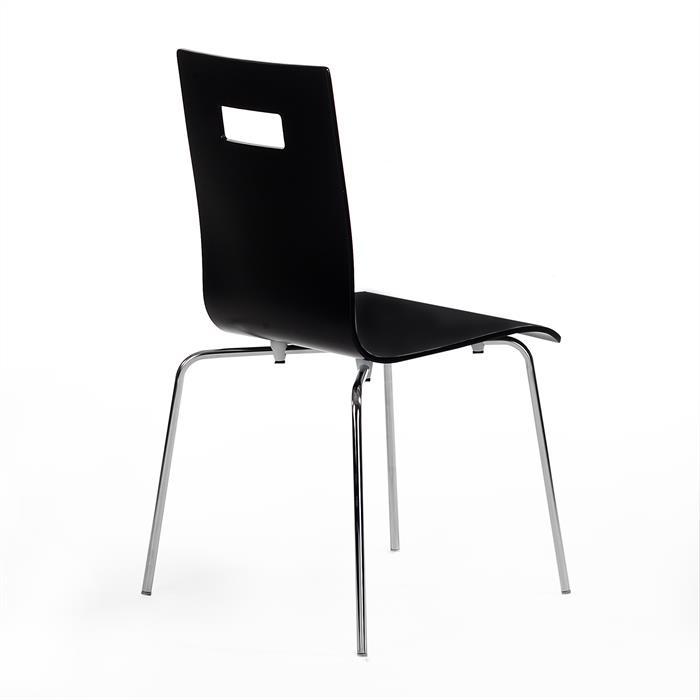 Stuhl IVANCA im 4er Pack in schwarz