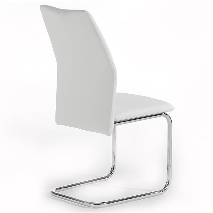 Schwingstuhl LEONA, 4er Set in weiß