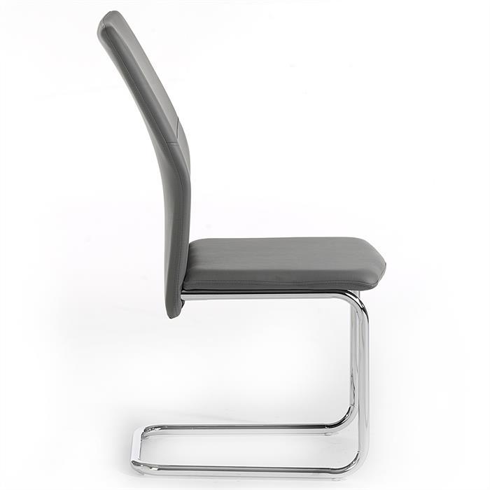 schwingstuhl leona 4er set in grau mobilia24. Black Bedroom Furniture Sets. Home Design Ideas