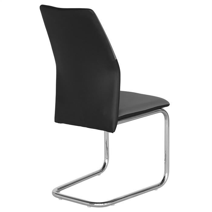 schwingstuhl leona 4er set in grau schwarz mobilia24. Black Bedroom Furniture Sets. Home Design Ideas