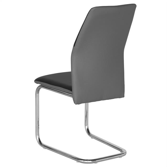 Schwingstuhl LEONA, 4er Set in schwarz/grau