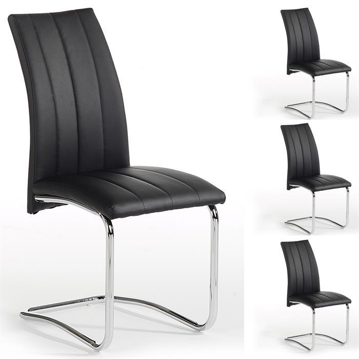Esszimmerstuhl ALESSIA  Set mit 4 Stühlen,in schwarz