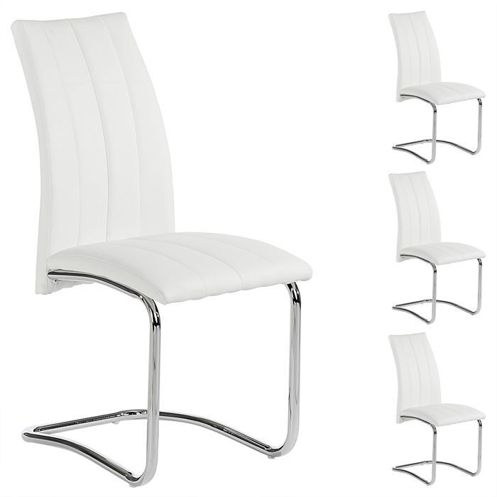 Esszimmerstuhl ALESSIA, Set mit 4 Stühlen, in weiß