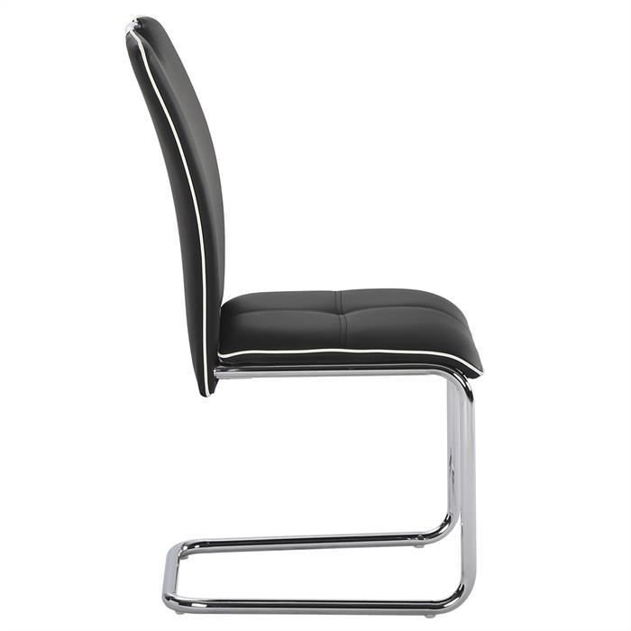 4er set schwingstuhl eleonora in schwarz mobilia24. Black Bedroom Furniture Sets. Home Design Ideas