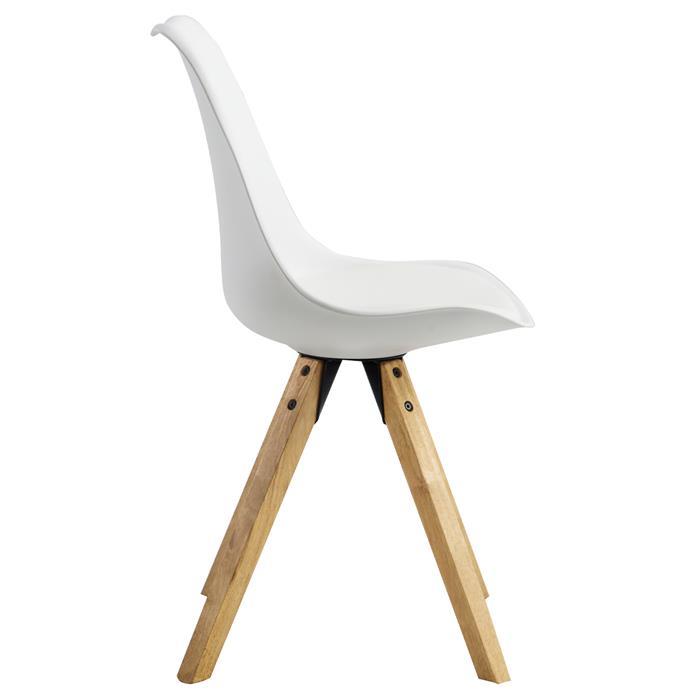 Esszimmerstuhl TYSON Retro Design 2er Set in weiß