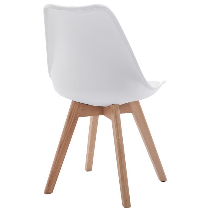 Esszimmerstuhl ABBY Retro Design im 4er Set in weiß