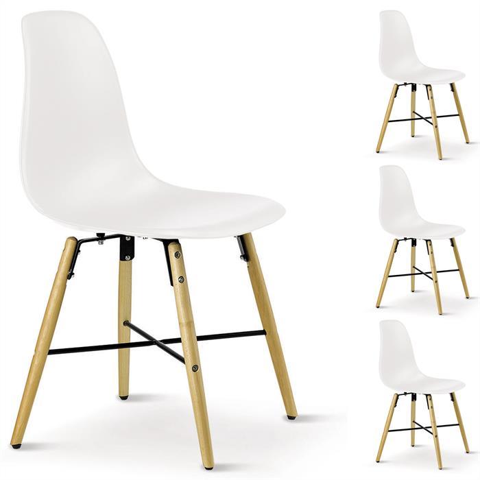Stuhl CICERO 4er Set weiß