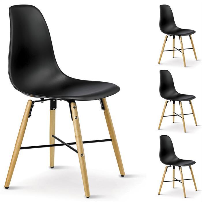 Stuhl CICERO 4er Set schwarz