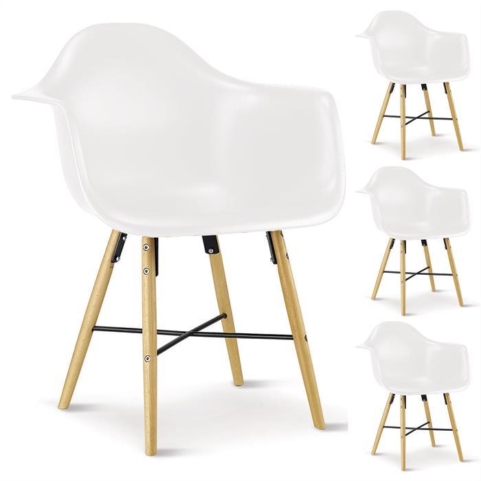 Stuhl EMILIO 4er Set weiß