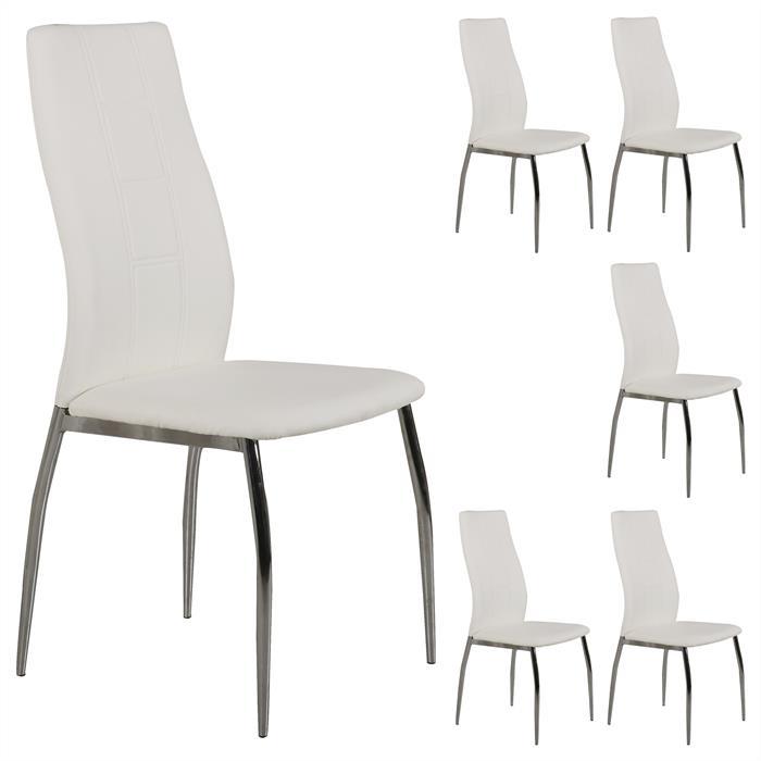 B-Ware Stuhl JOEL 6er Set weiß