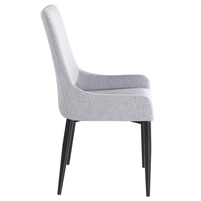4er Set Stuhl KYLIE Stoffbezug, grau