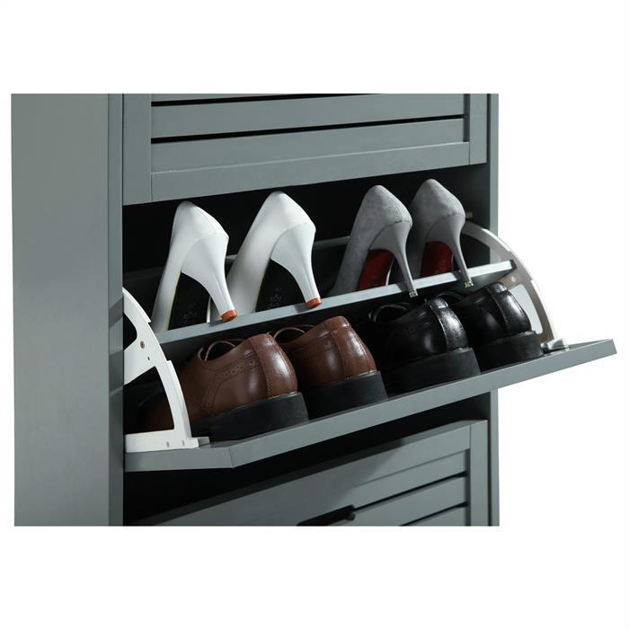 Schuhkipper ADRIA in grau mit 3 Klappen