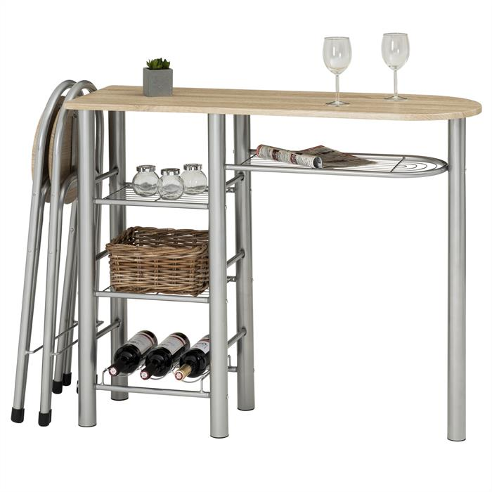 bartisch style mit 2 st hlen in sonoma eiche mobilia24. Black Bedroom Furniture Sets. Home Design Ideas