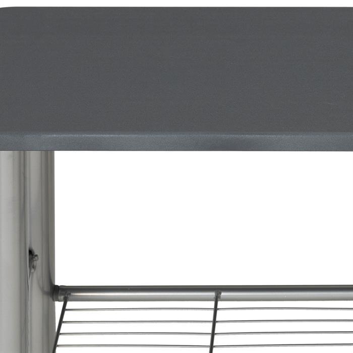 Bartisch STYLE mit 2 Stühlen in grau